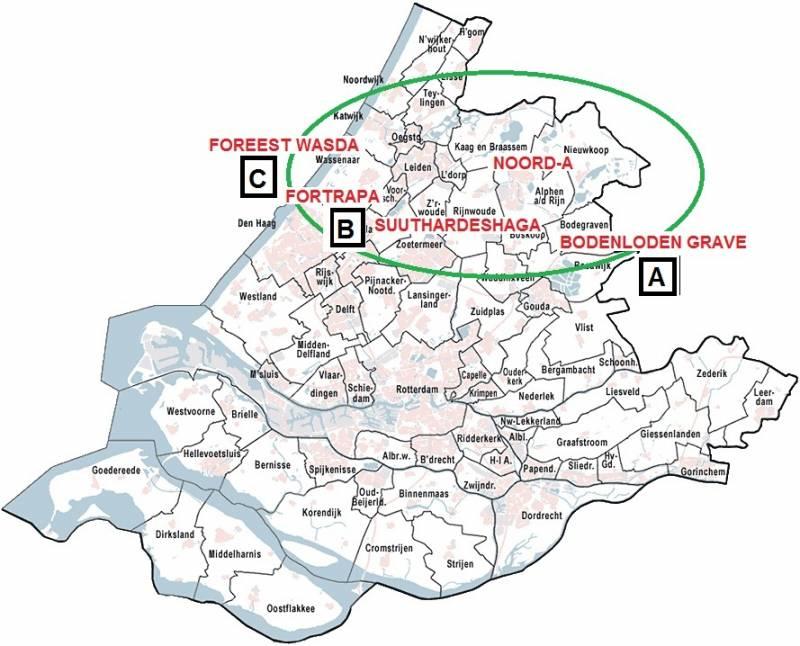 oudste landkaart van zuid holland